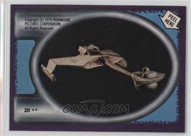 1979 Topps Star Trek: The Motion Picture - Stickers #20 - Klingon Starship