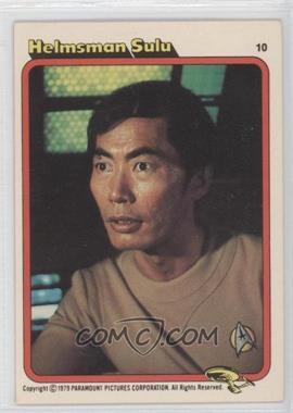 1979 Topps Star Trek: The Motion Picture Bread Series - [Base] - Rainbo Bread #10 - Helmsman Sulu