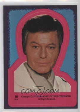 1979 Topps Star Trek: The Motion Picture Stickers #10 - Dr. Leonard McCoy