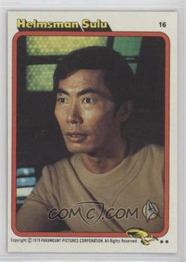 1979 Topps Star Trek: The Motion Picture #16 - Helmsman Sulu