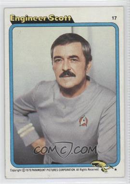 1979 Topps Star Trek: The Motion Picture #17 - Engineer Scott
