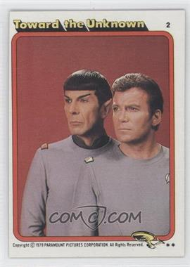 1979 Topps Star Trek: The Motion Picture #2 - Toward the Unknown