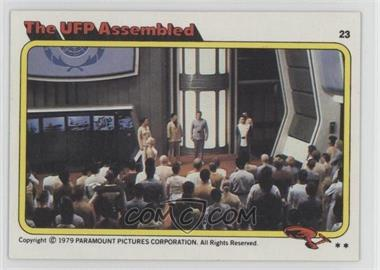 1979 Topps Star Trek: The Motion Picture #23 - The UFP Assembled