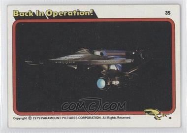 1979 Topps Star Trek: The Motion Picture #35 - Back in Operation!
