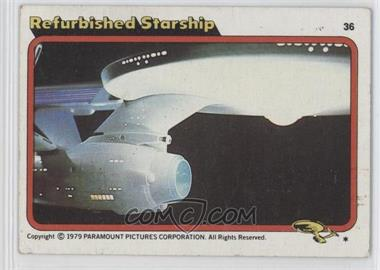 1979 Topps Star Trek: The Motion Picture #36 - Refurbished Starship [Poor to Fair]