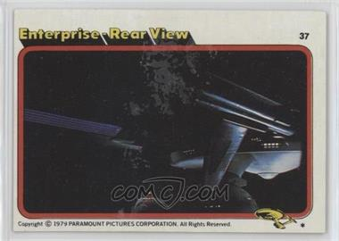 1979 Topps Star Trek: The Motion Picture #37 - Enterprise Rear View