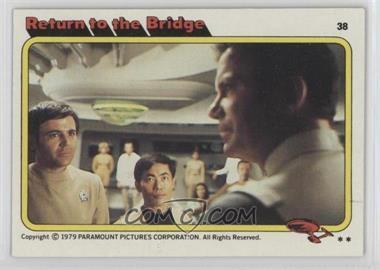 1979 Topps Star Trek: The Motion Picture #38 - Return to the Bridge