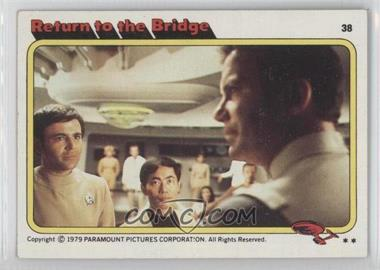 1979 Topps Star Trek: The Motion Picture #38 - Return to the Bridge