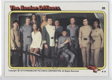 1979 Topps Star Trek: The Motion Picture #39 - The Senior Officers