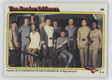 1979 Topps Star Trek: The Motion Picture #39 - The Senior Officers