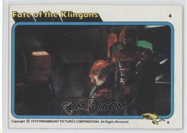 1979 Topps Star Trek: The Motion Picture #4 - Fate of the Klingons