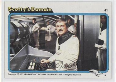1979 Topps Star Trek: The Motion Picture #41 - Scotty's Domain