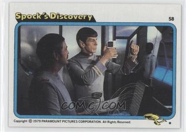 1979 Topps Star Trek: The Motion Picture #58 - Spock's Discovery