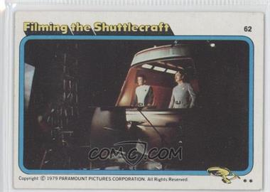 1979 Topps Star Trek: The Motion Picture #62 - Filming the Shuttlecraft