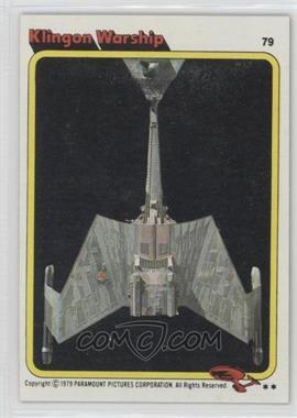1979 Topps Star Trek: The Motion Picture #79 - Klingon Warship