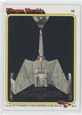 1979 Topps Star Trek: The Motion Picture #79 - Klingon Warship