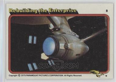 1979 Topps Star Trek: The Motion Picture #8 - Rebuilding the Enterprise