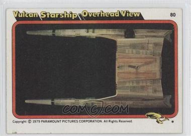 1979 Topps Star Trek: The Motion Picture #80 - Vulcan Starship - Overhead View [Good to VG‑EX]