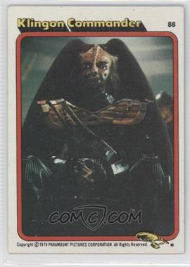 1979 Topps Star Trek: The Motion Picture #88 - Klingon Commander