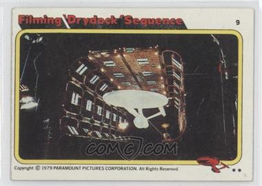 1979 Topps Star Trek: The Motion Picture #9 - Filming 'Drydock' Sequence