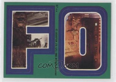 1980 Topps Star Wars: The Empire Strikes Back Stickers #67 - [Missing]
