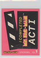 I Completed Ms. Pac-Man Act I