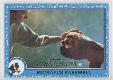 1982 Topps E.T. The Extra Terrestrial in His Adventure on Earth #72 - Michael's Farewell
