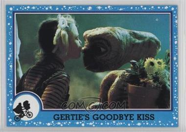 1982 Topps E.T. The Extra Terrestrial in His Adventure on Earth #74 - Gertie's Goodbye Kiss