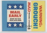 Mail Early/Warning! Grouch