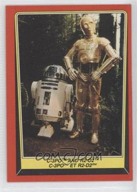 1983 O-Pee-Chee Star Wars: Return of the Jedi #8 - C-3PO and R2-D2