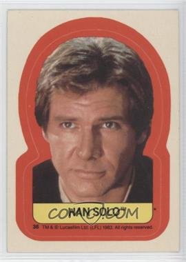 1983 Topps Star Wars: Return of the Jedi - Stickers #36 - Han Solo