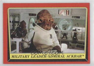 1983 Topps Star Wars: Return of the Jedi [???] #124 - Military Leader Admiral Ackbar