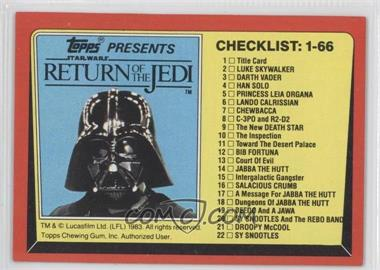 1983 Topps Star Wars: Return of the Jedi [???] #131 - [Missing]