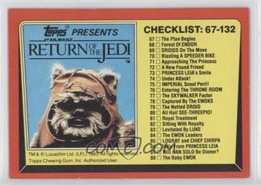 1983 Topps Star Wars: Return of the Jedi [???] #132 - Checklist: 67-132