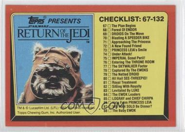 1983 Topps Star Wars: Return of the Jedi [???] #132 - [Missing]