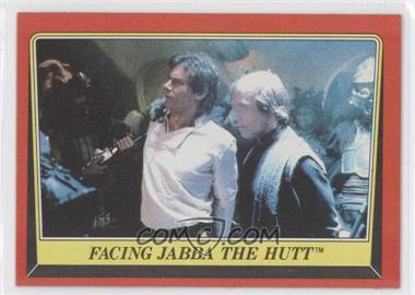 1983 Topps Star Wars: Return of the Jedi [???] #37 - Facing Jabba The Hutt
