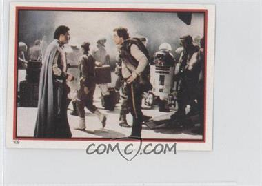 1983 Topps Star Wars: Return of the Jedi Album Stickers #109 - Lando Calrissian, Han Solo