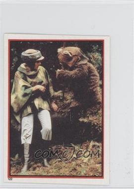 1983 Topps Star Wars: Return of the Jedi Album Stickers #122 - Leia Organa, Wicket W. Warrick