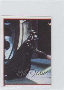 1983 Topps Star Wars: Return of the Jedi Album Stickers #160 - Darth Vader, Luke Skywalker