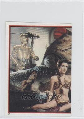 1983 Topps Star Wars: Return of the Jedi Album Stickers #71 - Jabba The Hutt, Leia Organa
