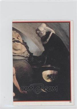 1983 Topps Star Wars: Return of the Jedi Album Stickers #72 - Jabba The Hutt, Leia Organa