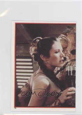 1983 Topps Star Wars: Return of the Jedi Album Stickers #76 - Leia Organa, Jabba The Hutt
