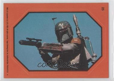 1983 Topps Star Wars: Return of the Jedi Stickers #25.2 - Boba Fett (Orange)