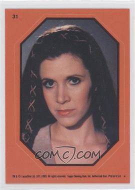 1983 Topps Star Wars: Return of the Jedi Stickers #31.2 - Princess Leia (Orange)