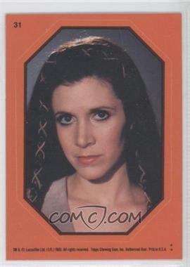 1983 Topps Star Wars: Return of the Jedi Stickers #31.2 - Princess Leia (Orange)