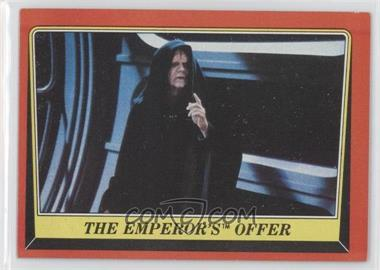 1983 Topps Star Wars: Return of the Jedi #118 - The Emperor's Offer