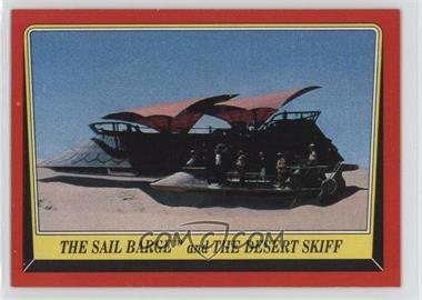 1983 Topps Star Wars: Return of the Jedi #38 - The Sail Barge and The Desert Skiff