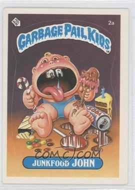 1985-88 Topps Garbage Pail Kids [???] #2a - Junkfood John