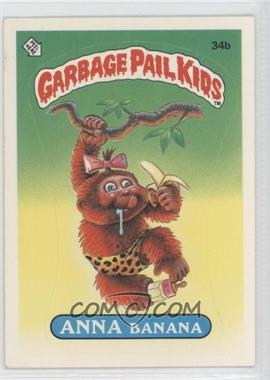 1985-88 Topps Garbage Pail Kids [???] #34b.2 - Anna Banana (two star back)