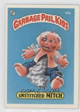1985-88 Topps Garbage Pail Kids [???] #40a - Unstitched Mitch